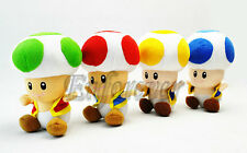 "6"" Super Mario Bros Lot 4 TOAD Soft Plush Doll^MW288"