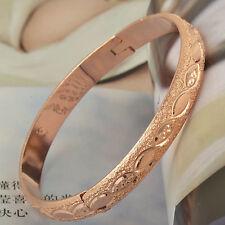 Perfect 9K Solid Gold Filled Womens Bangle Bracelet