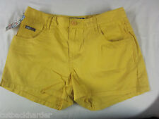 ROXY Ladies Girls Shorts Pixie 5 Pocket Deep Yellow Gold SIZE 7 BRAND NEW