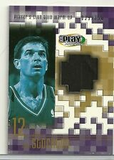 2002 Upper Deck Play Makers Basketball John Stockton Game Used Warm Up Card /250