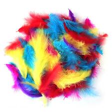 200 x Large Fluffy Marabou Feathers 12-15cm Card Making Crafts Embellishments