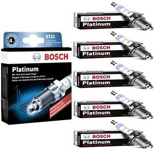 5 pcs Bosch Double Platinum Spark Plugs 2009-2010 HUMMER H3T L5-3.7L