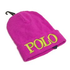 POLO RALPH LAUREN BEANIE HAT GIRLS  7 - 16 YEARS KNIT CAP WINTER SKI  PINK  NEW