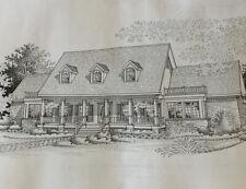 Vintage House Blueprints Architect Plans Breland & Farmer Designs EE-2307