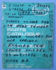 Triumph Motorcycle Manual Parts Book 1973 750 T140 Bonneville Tr7 Tiger 99-0980