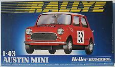 Heller 80153 - AUSTIN MINI - RALLYE - 1:43 - Auto Modellbausatz - Model Kit