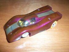 OLD RIGGEN 1/32 WOMP PRO-AM PORSCHE 917 SLOT CAR_BRASS CHASSIS_SEE THE MOTOR RUN