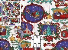 New Scrubs ~ Print Scrub Top ~  M  ~  Night Before Christmas