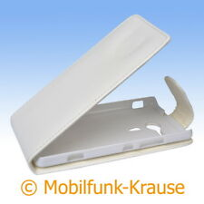 Flip Case Etui Handytasche Tasche Hülle f. Sony Xperia SP (Weiß)