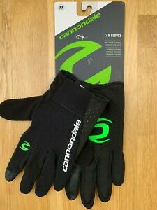 Cannondale CFR Full Finger MTB Gloves: Medium - Black/Green (New with Tags)