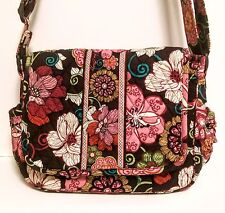 VERA BRADLEY :: *NEW* :: Cross Body Bag :: Chocolate Brown/Pink Floral