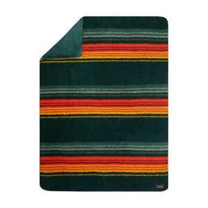 PENDLETON SHERPA FLEECE SOUTHWEST THROW BLANKET GREEN REVERSIBLE 60 X 70 NWT
