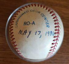 1986 Game-Used Rawlings MLB American League Baseball Bobby Brown