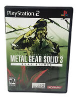Metal Gear Solid 3 Subsistence (Sony PlayStation 2, 2006) PS2 No Manual