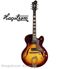HAGSTROM HJ800 VSB HOLLOW BODY GUITAR IN VINTAGE SUNBURST WITH CASE *BRAND NEW*