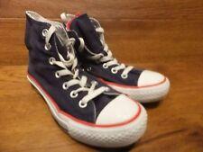 Converse CT All Star Blu Navy Tela Canvas Sneaker alte taglia UK 4 EU 36.5