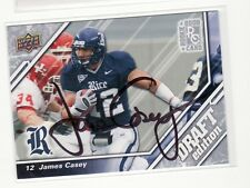 JAMES CASEY AUTOGRAPHED RICE UNIVERSITY FOOTBALL CARD