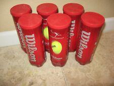 🎾 Lot 6 Brand New Cans Sealed Wilson Championship Tennis Balls Usa, 18 Balls