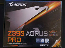 Gigabyte Z390 Aorus Pro motherboard with accessories