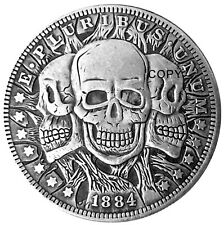 Three Faces of Death Novelty Heads Tail Good Luck Token Coin US FAST SHIPPING