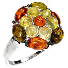 5.8g Authentic Baltic Amber 925 Sterling Silver Ring Jewelry N-A7173