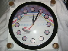 "NEW IN BOX,SPORTS  HOCKEY THEME 11""  ROUND QUARTZ WALL CLOCK - SHARP"