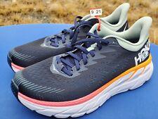 Hoka One One Womens Clifton 7 1110509 BIBH Black Blue Haze Running Shoe Size 10