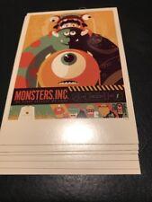 SDCC Comic Con 2012 EXCLUSIVE MONDO Monsters Inc. Promo Poster card