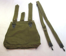 WWII GERMAN MILITARY ARMY CANVAS BREAD BAG WITH SHOULDER STRAP