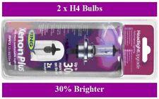 H4 Ring Xenon Plus Headlight Bulbs x 2 Fits Toyota Aygo Rav 4 Yaris Verso