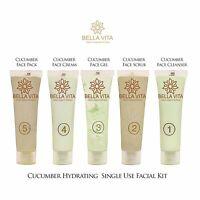 Bella Vita Organic Cucumber Hydrating Facial Kit  fight wrinkles, dark under eye