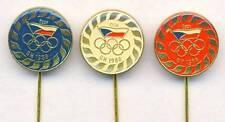 1988 SEOUL Olympics CZECHOSLOVAKIA NOC 3x PIN Badge OLYMPIC GAMES Czechoslovak