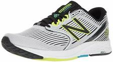 New Balance Men's 890V6 Running Shoe, White/Black, 9 D(M) US