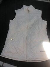 Eddie BauerQuilted Year Round Vest Off White Women's Small S New