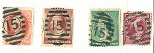 US Bank Note Stamp Types w/NYC PO Station ELLIPSE Fancy Cancels ~ ID=Cole #EL-92