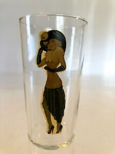 VTG MCM 1940s PEEK-A-BOO 1pc~NOVELTY 11oz BAR GLASS~GIRLIE~PIN UP~RISQUE~TUMBLER
