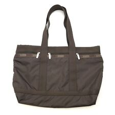 Lesportsac Purse Handbag Brown Shoulder Tote Bag Large Hobo Grayson Weekender