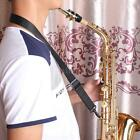 Andoer Adjustable Saxophone Clarinet Neck Strap + Hook Clasp Black New RW2W
