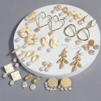 Vintage Irregular Pearl Dangle Earrings Geometric Drop Earring Wedding Jewelry