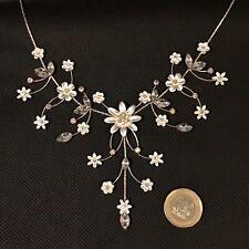 BNWT Adore Silver Metal & Cubic Zirconia Floral Festoon Necklace. Wedding