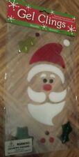 Santa Claus Gel Window Clings ~ holly leaves, snow, berries. Christmas. New.
