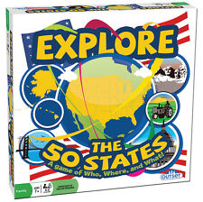 EXPLORE THE 50 STATES - A GAME OF WHO, WHERE, AND WHAT! OUTSET MEDIA BOARD GAME
