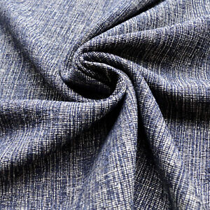 Boucle fabric - Wool blend - Blue, black, brown - Dress fabric - Suiting