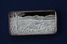 1975 America The Beautiful Hamilton Mint Blue Ridge Mountains Silver Bar P0649