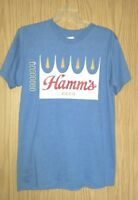 New w/Tags Lightweight Blue HAMM'S Beer Graphics Size M Tee Shirt