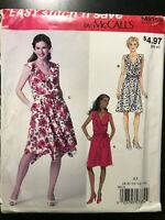 ⭐ McCall's Easy Surplice Front Dress/Belt All Sizes Uncut / NEW! ⭐