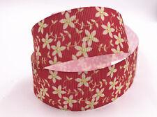 DIY 1 Yard 1'' 25mm print Flowers patterns bow Ribbon Crafts Sewing Ribbon