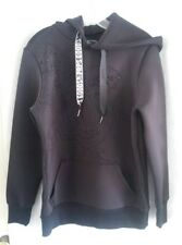 PRPS CHERUB LOGO Pullover Crewneck Hoodie Black Size Small  100 % Polyester