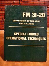 FM 31-20 SPECIAL FORCES OPERATIONAL TECHNIQUES FIELD MANUAL DEC 1965 TAGO 6242C