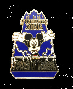 Disney Parks Hollywood Studios Tower of Terror Mickey Mouse Pin